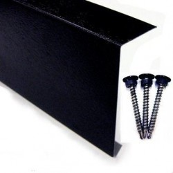 Metal Edge Trim (Black Plastisol) 150mm x 3M