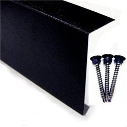 Metal Edge Trim (Black Plastisol) 100mm x 3M