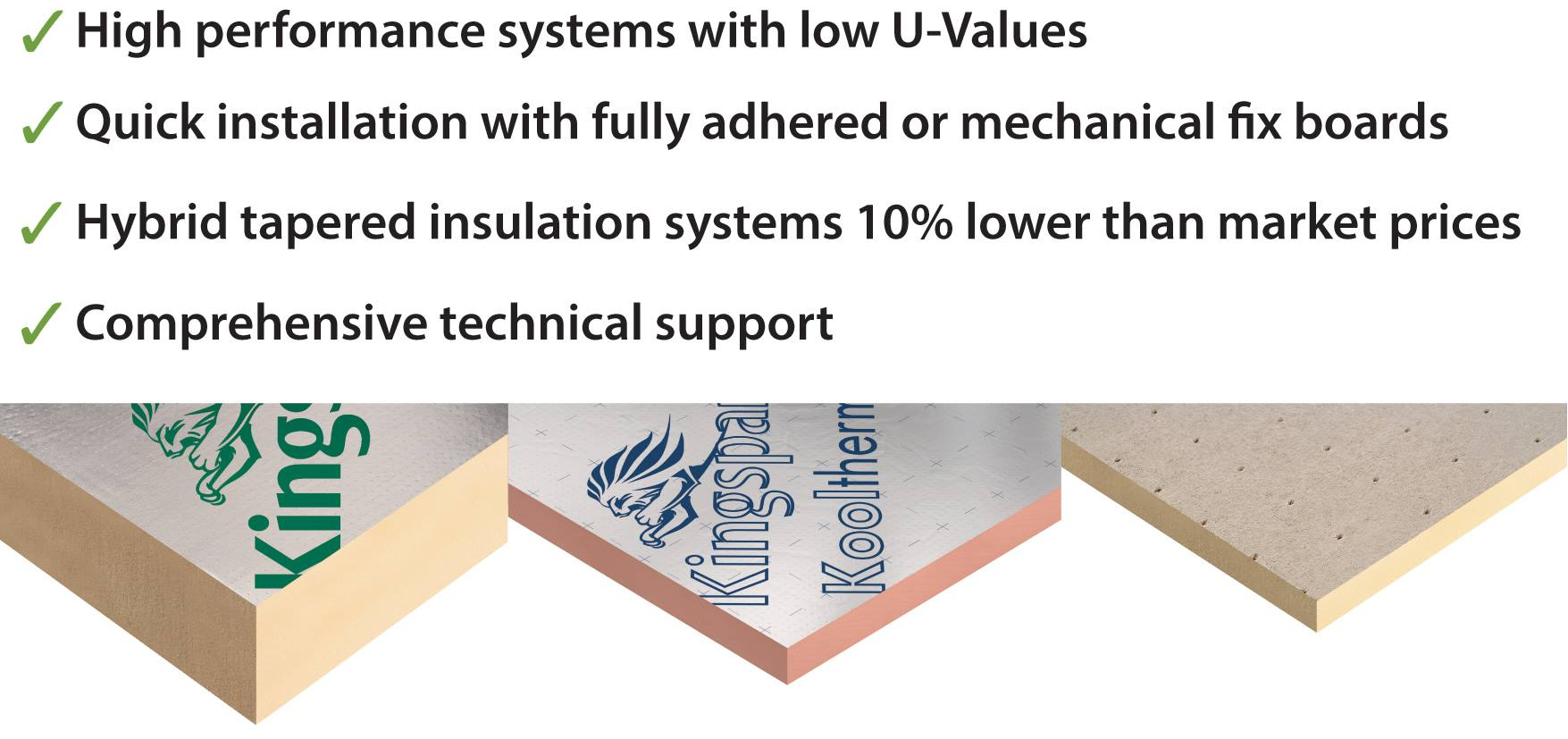 Flat roof insulation